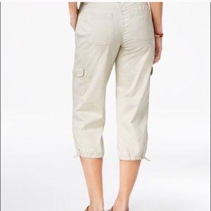 Style & Co Size 18 Tan Cargo Capri Pants